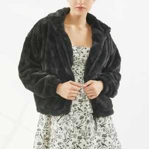 UO Eva Cozy Faux Fur Jacket NWT